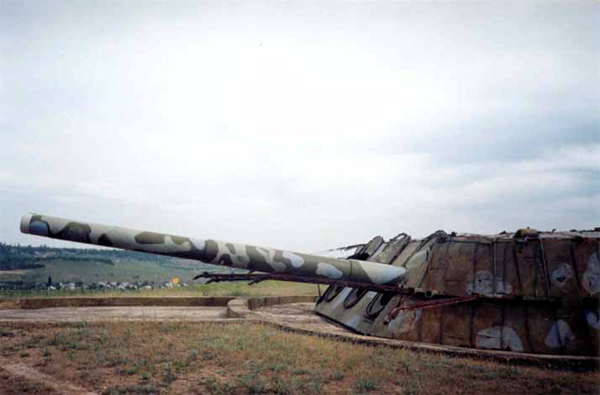 Modern view of the 3-guns turret