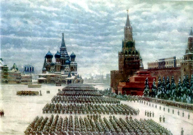 K. Yuon. Red Square parade. (November 7, 1941)