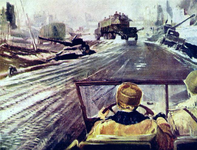 Y. Pimenov. Front road