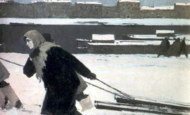 B.Ugarov. Leningrad woman