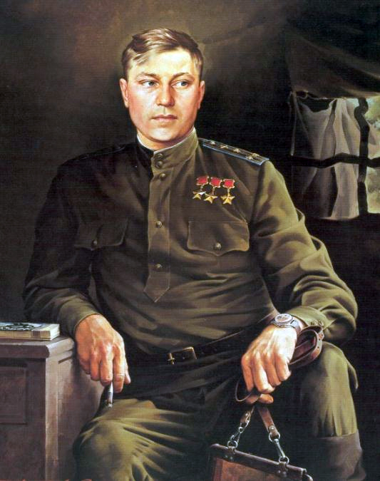 S.Prisekin. Fighter pilot A.Pokryshkin