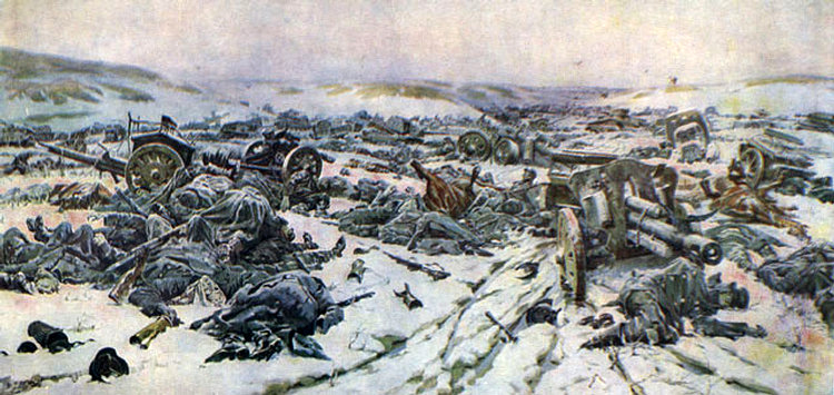 P. Krivonogov. Defeat of the German troops in Korsun-Schevchenko pocket