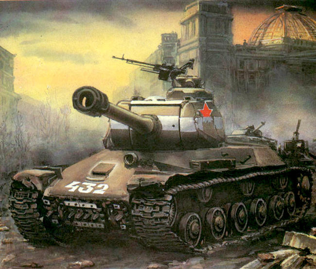 V. Lobachev. Tanks of the 7th Guard tank brigade in Berlin, 1945