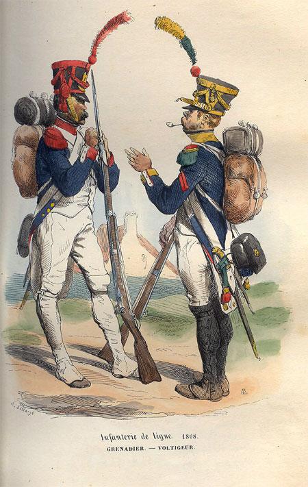Infanterie de ligne. 1808. Grenadier. - Voltigeur