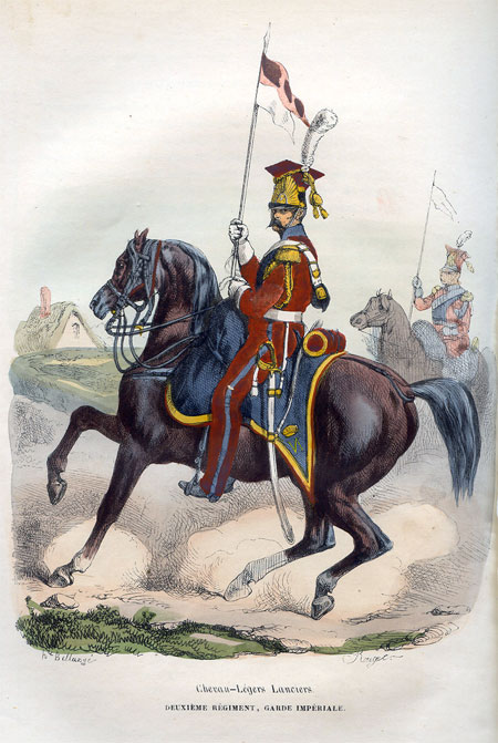 Chevan-Legers Lanciers . Deuxieme Regiment, Garde Imperiale