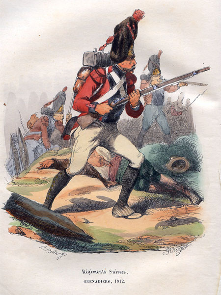 Regiments Suisses. Grenadiers, 1812.
