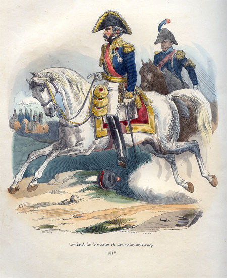 General de division et son aide-de-camp, 1812