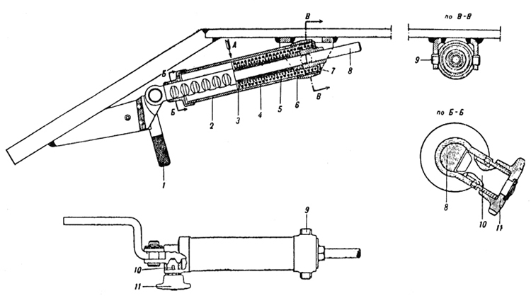 Plate 1 - Balancing mechanism of the driver's hatch