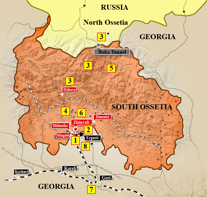 Battle For The South Ossetia August Photogallery - South ossetia map