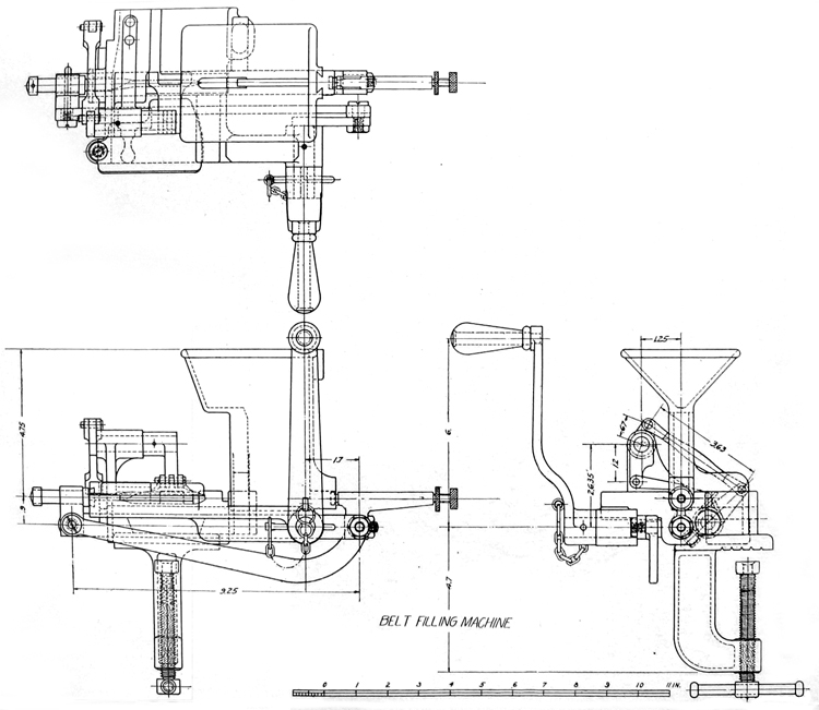Plate IV. Belt-filling machine
