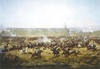The Battle of Borodino. September 7, 1812. Situation at 12.30 p.m. 360-degrees panorama by Franz A. Roubaud