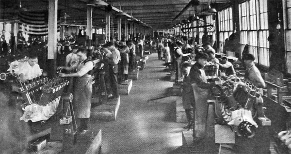 Assembling Liberty Motors at the Plant of the Lincoln Motor Co.