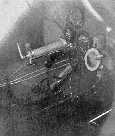 General Arrangement of Throttle and Gas Control, and Other Instruments in Pilot's Cockpit of a DH-4.
