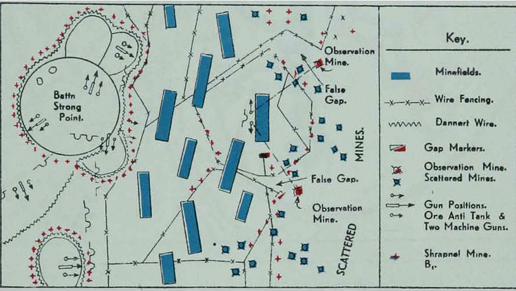German Minefields At Alamein October November - Us minefield map
