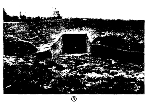 Figure 47.—Emplacement for antitank gun, with ramp.