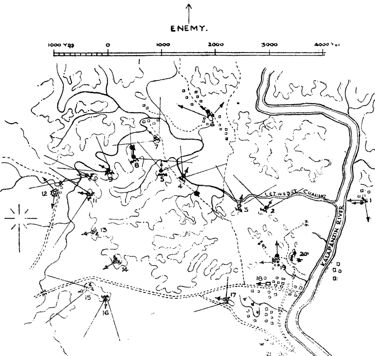 Battalion Position at Buthedaung.