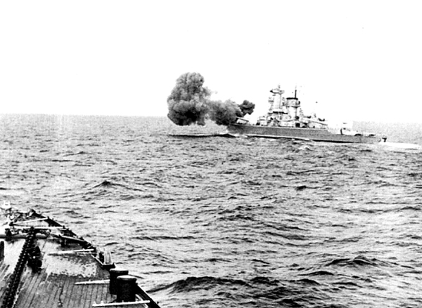 Scheer fires on the British merchant ship, 1941