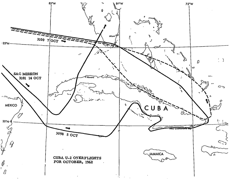 CUBA U-2 OVERFLIGHTS FOR OCTOBER 1962