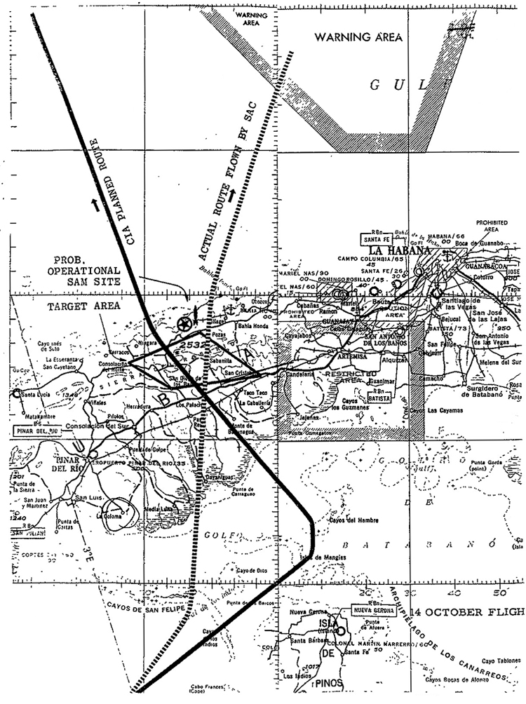 CUBA U-2 OVERFLIGHTS FOR 14 OCTOBER 1962 (Detailed)