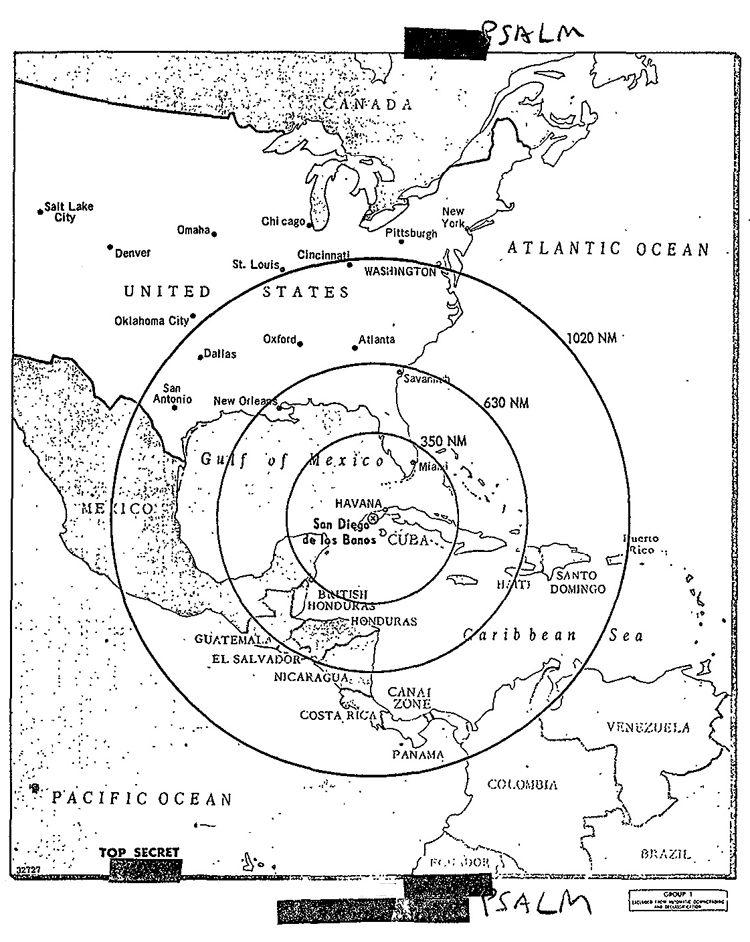 CIA Documents On The Cuban Missile Crisis - Map of cuba and southeast us