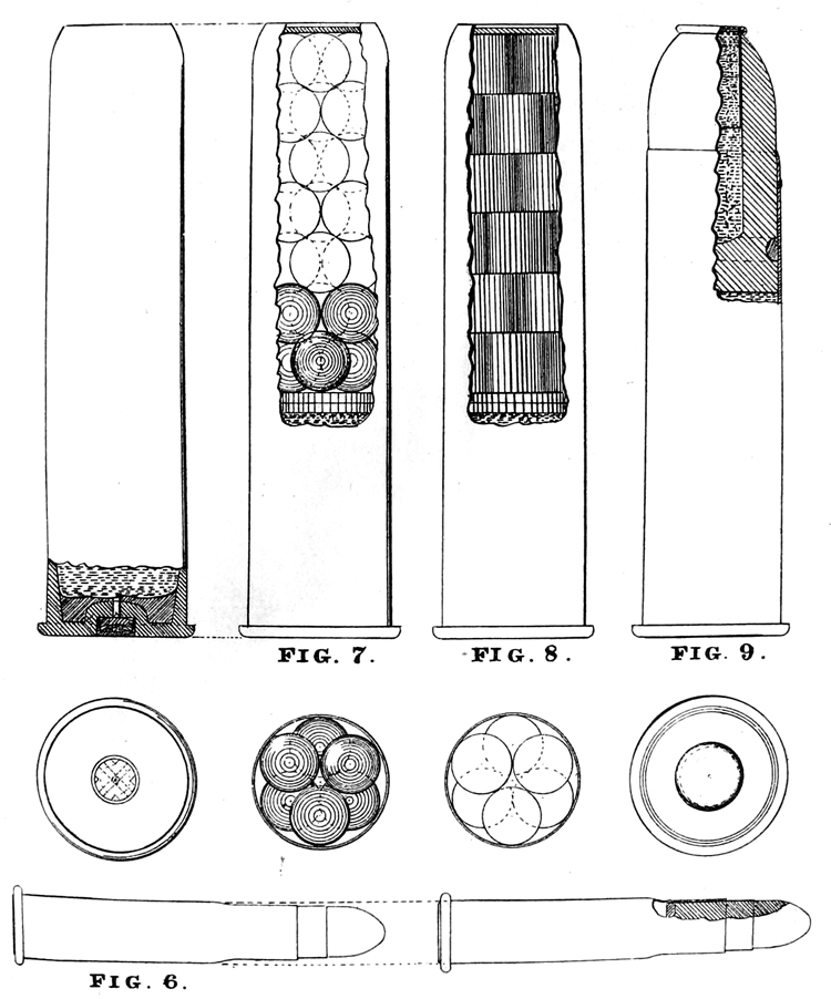 Fig. 6-9. Ammunition used with the Gatling 1 inch & 0.42 inch guns