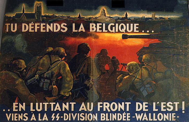 "Defend Belgium on the eastern front, join SS Panzer Division ""Wallonie"""