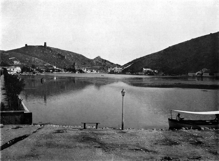 Balaclava Bay and settlement, British operational base