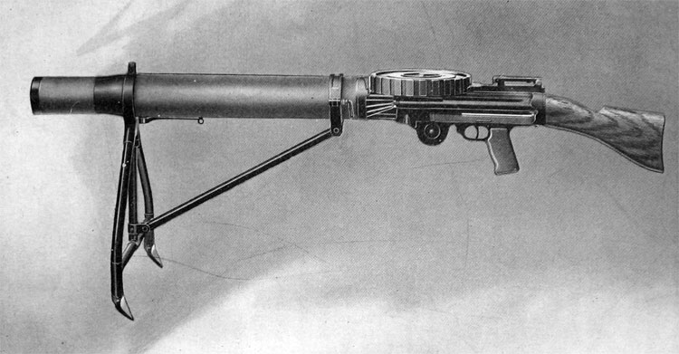 FRONTISPIECE.—Gun Complete, with Magazine and Light Folding Field Mount
