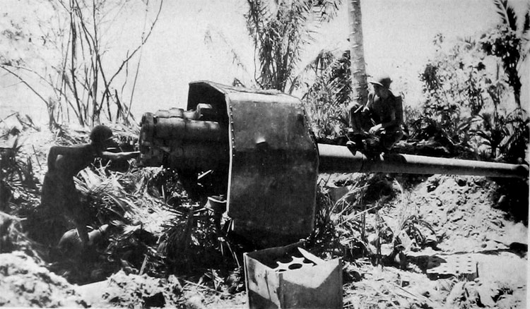 Type 3 120-mm gun on Los Negros