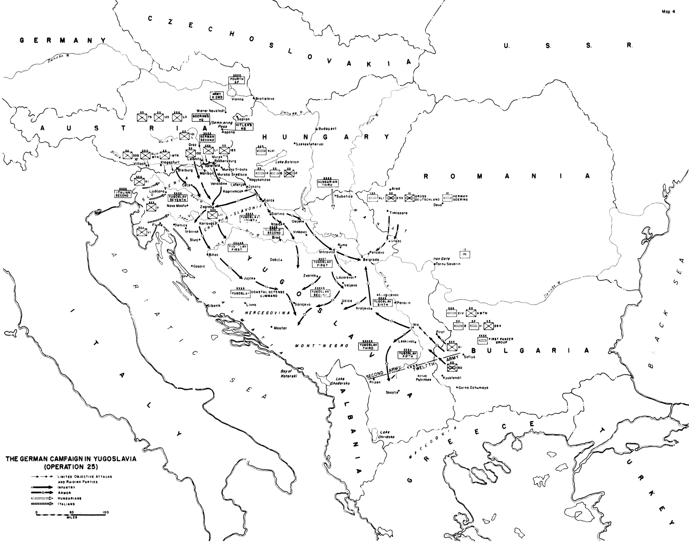 the german c aign in the balkans 1941 by mueller hillebrand Balkan Peninsula Continent click to enlarge