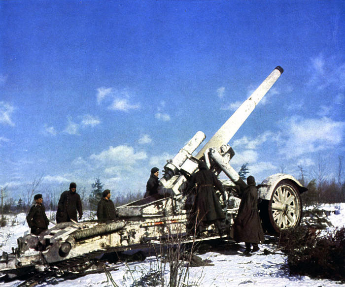 German Artillery in action on the Eastern Front