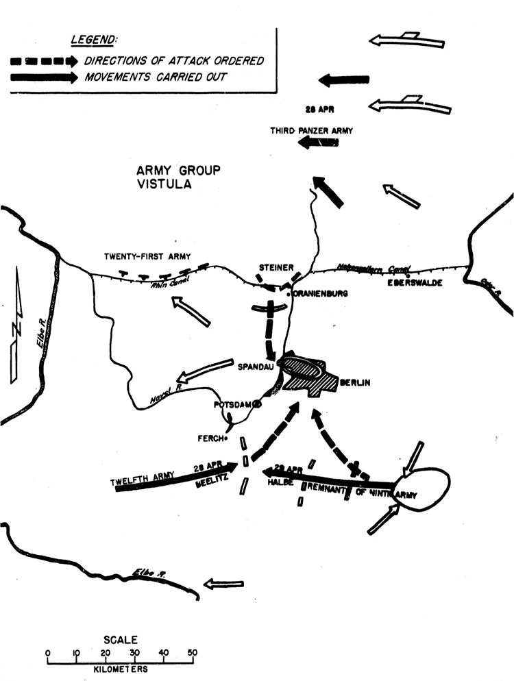 THE CARRYING OUT OF THE RELIEF ATTACKS, 28-30 APRIL 1945