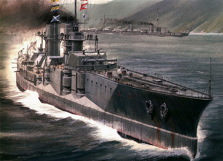 Borodino class battlecruiser artist impression